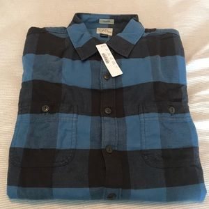 Jcrew Men's Tall Plaid Flannel